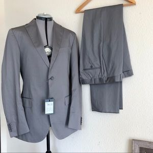 Ermenegildo Z-Zegna Trim Fit Cotton Silk Suit